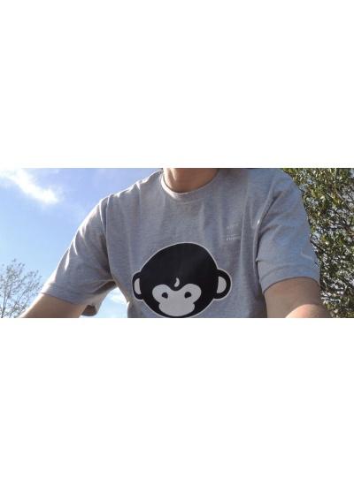 DMT Monkey T-Shirt - Mens, Heather Grey - Logo Art