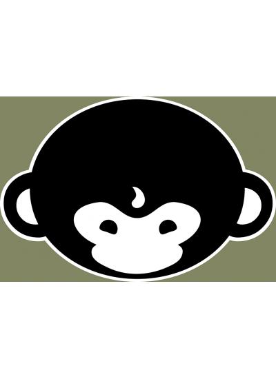 DMT Monkey T-Shirt - Mens, Forest Green - Front Logo