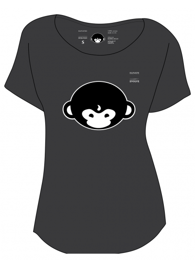 DMT Monkey T-Shirt - Womens - Front View