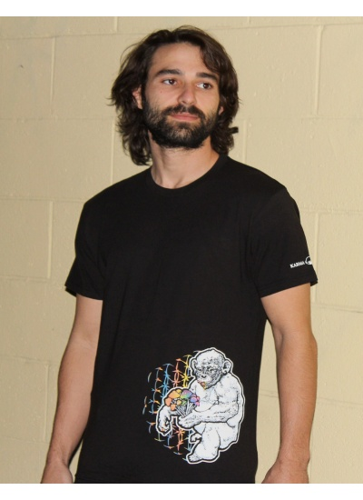 Stoned Ape Theory Shrooms T-Shirt - Mens, Black - Portrait