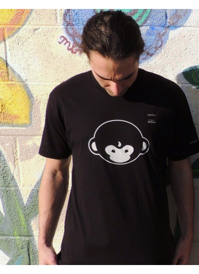 DMT Monkey T-Shirt - Mens, Black - Portrait