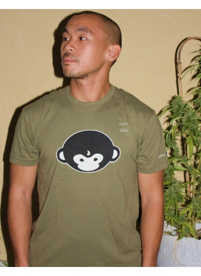 DMT Monkey T-Shirt - Mens, Forest Green - Portrait