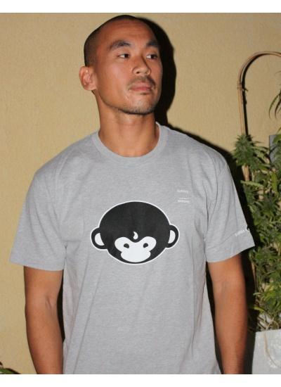 DMT Monkey T-Shirt - Mens, Heather Grey - Portrait