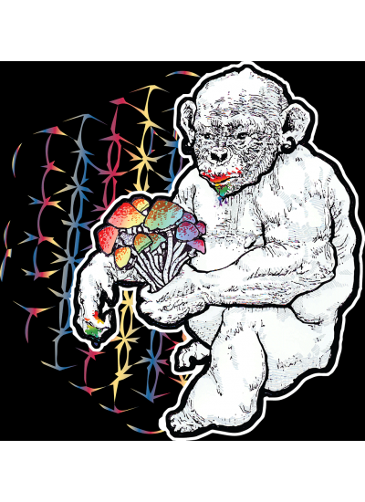 Stoned Ape Theory Shrooms T-Shirt - Mens, Black - Front Logo